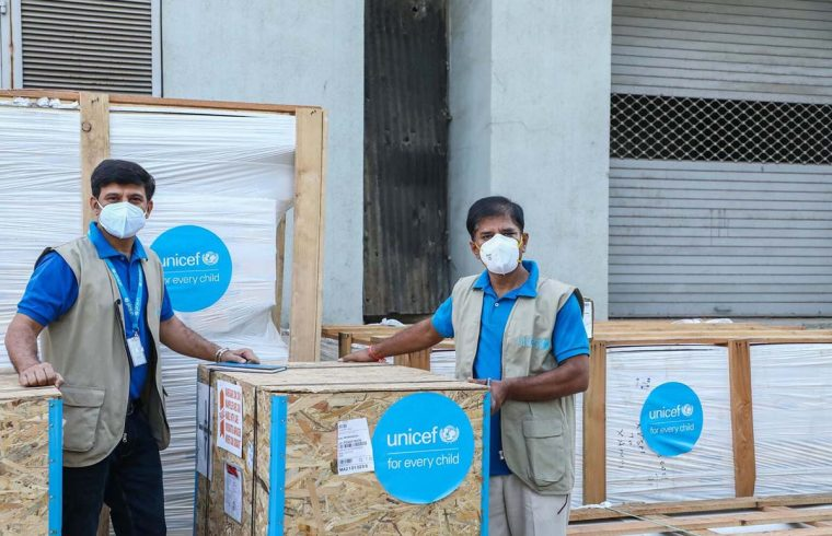 Covid-19 vaccines are delivered to Ahmedabad, India, by UNICEF and Intrepid Travel